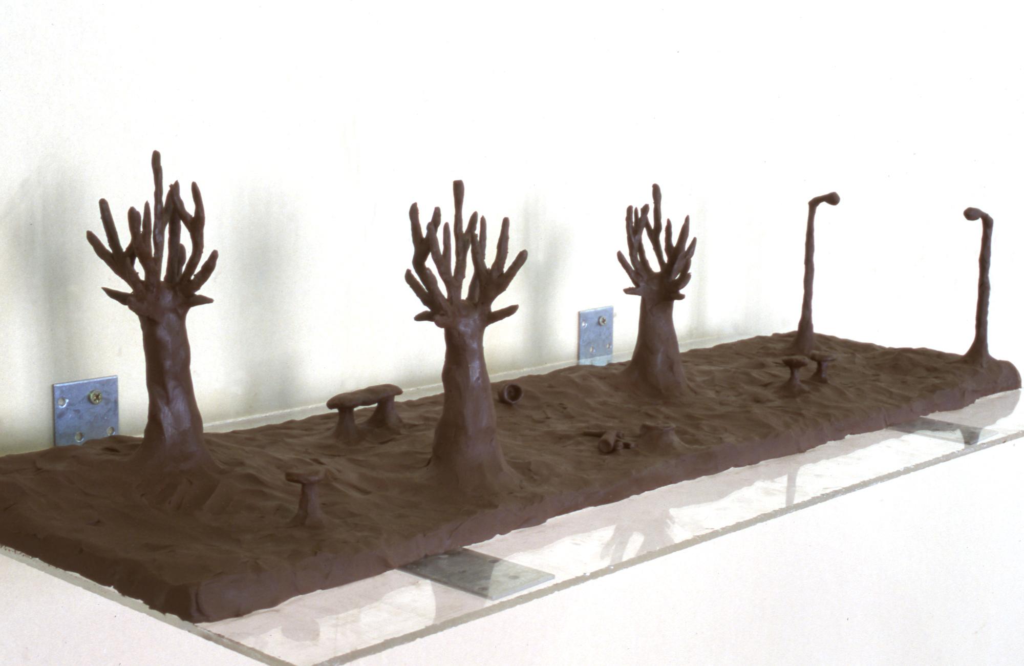Maddy Arkesteyn - Model for bronze picnic area (public artwork Bentwoud)
