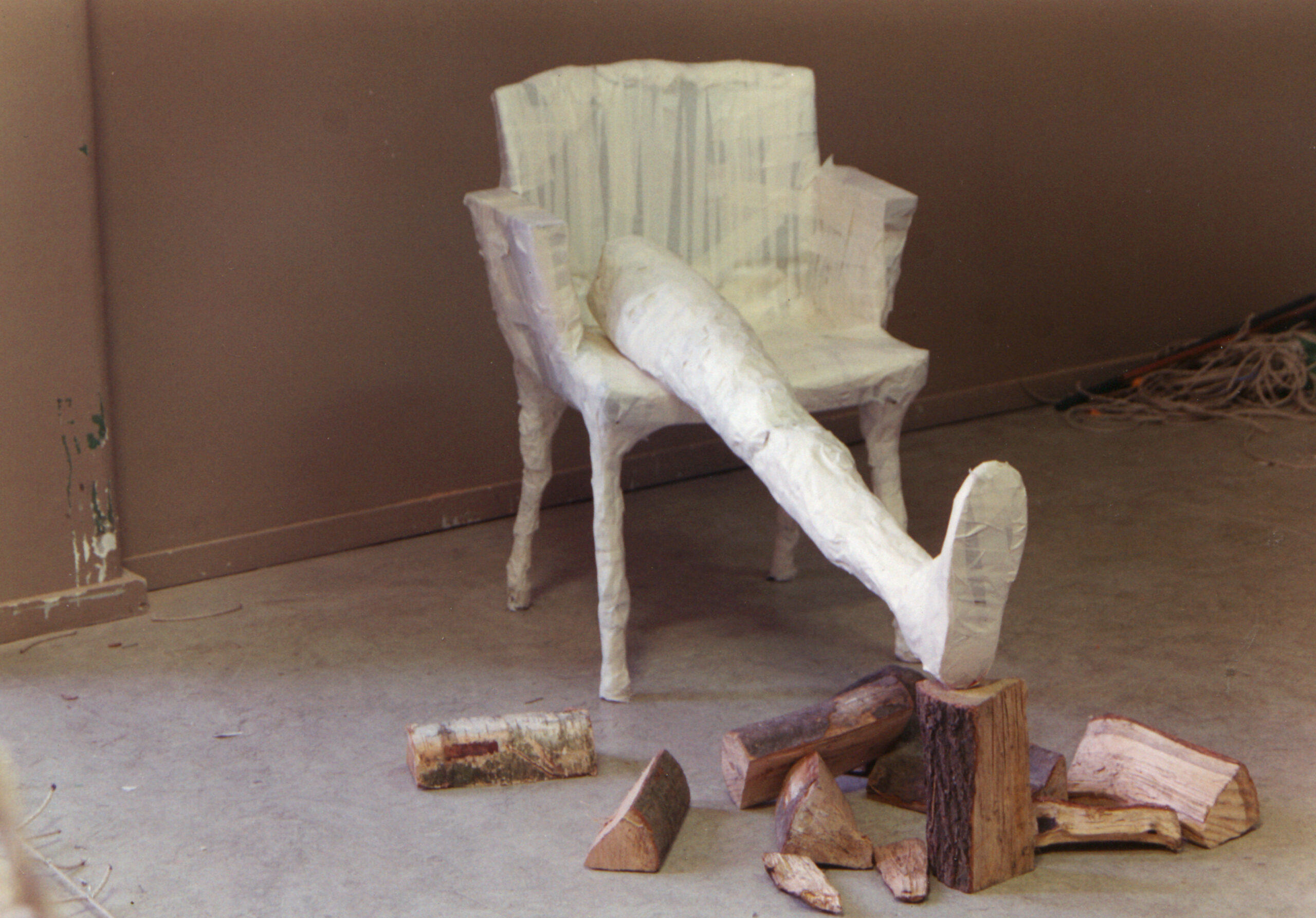 Chair with leg